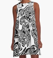 Abstract Ink No. 3 A-Line Dress