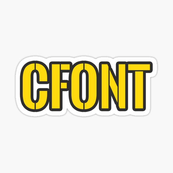 CFONT | Chalfont, PA Sticker