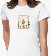 Time Began in a Garden Womens Fitted T-Shirt