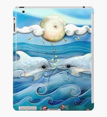 baby dolphins iPad Case/Skin