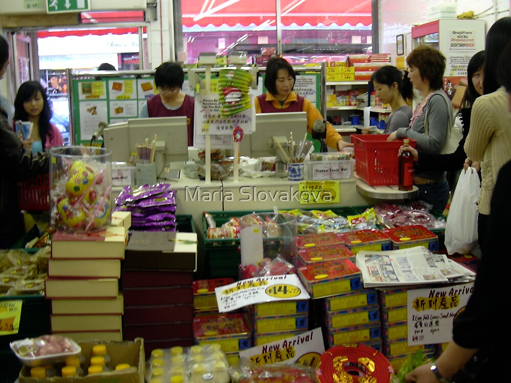 At the Chinese Supermarket.. by Maria Slovakova