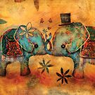 Vintage Elephants by Karin Taylor