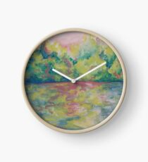 Colors of a Lazy River on a Warm Day Clock