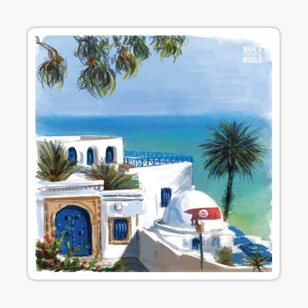 Sidi Bou Said, T-shirt, Affiches et Cadeaux Tunisie Sticker