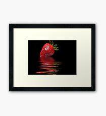 Strawberry Ripple Framed Print