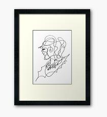 sketching portrait Framed Print