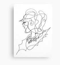 sketching portrait Canvas Print