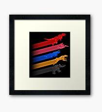 Mighty Morphin Zords Framed Print