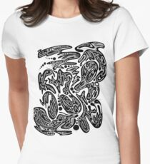 Abstract Ink No. 5 Women's Fitted T-Shirt