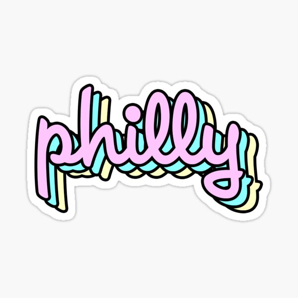 philly retro Sticker