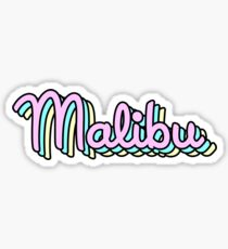 malibu retro Sticker