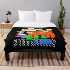 Funky Forest Throw Blanket