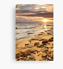 Sunrise Surfers Canvas Print