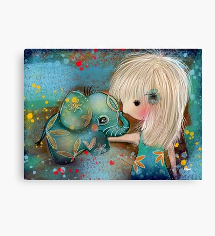 my elephant friend Canvas Print