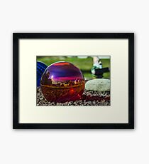 Glass Ball Garden Decor Framed Print