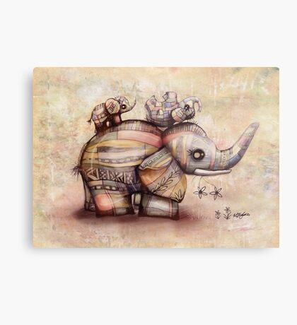 upside down elephants Metal Print
