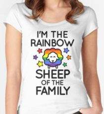 I'm the Rainbow Sheep of the Family Women's Fitted Scoop T-Shirt