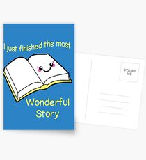I Just Finished The Most Wonderful Story Postcards