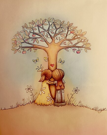 underneath the apple tree by © Karin Taylor