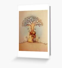 underneath the apple tree Greeting Card
