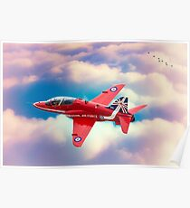 """RAF """"Red Arrows"""" Hawk Poster"""