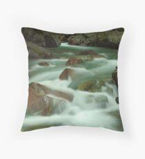 Avalanche Creek, Glacier NP Throw Pillow