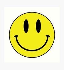 smiley face Art Print