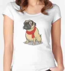 For all you Puggalos Fitted Scoop T-Shirt