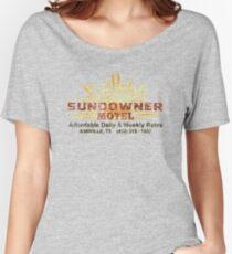 SUNDOWNER MOTEL - Annville, TX (Preacher) Women's Relaxed Fit T-Shirt