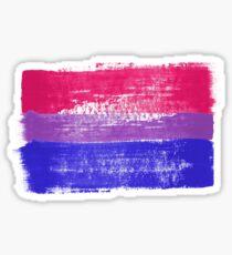 Bisexual Pride Art Glossy Sticker