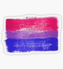 Bisexual Pride Art Transparent Sticker
