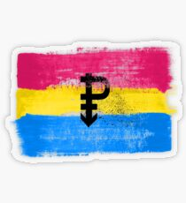 Pansexual Pride Art Transparent Sticker