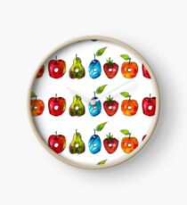 The Very Hungry Caterpillar Fruit (White) Clock