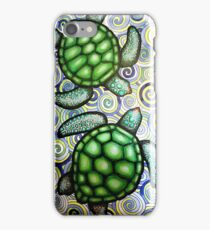 Turtle Tide in Spirals iPhone Case/Skin
