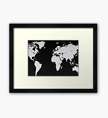 Map of the World Framed Print
