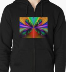 Rainbow Butterfly Zipped Hoodie