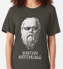 Nichts wissen Slim Fit T-Shirt