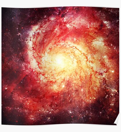 Deep Space Galaxy (Messier 101 Remix) Poster