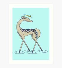 Crown Deer Art Print