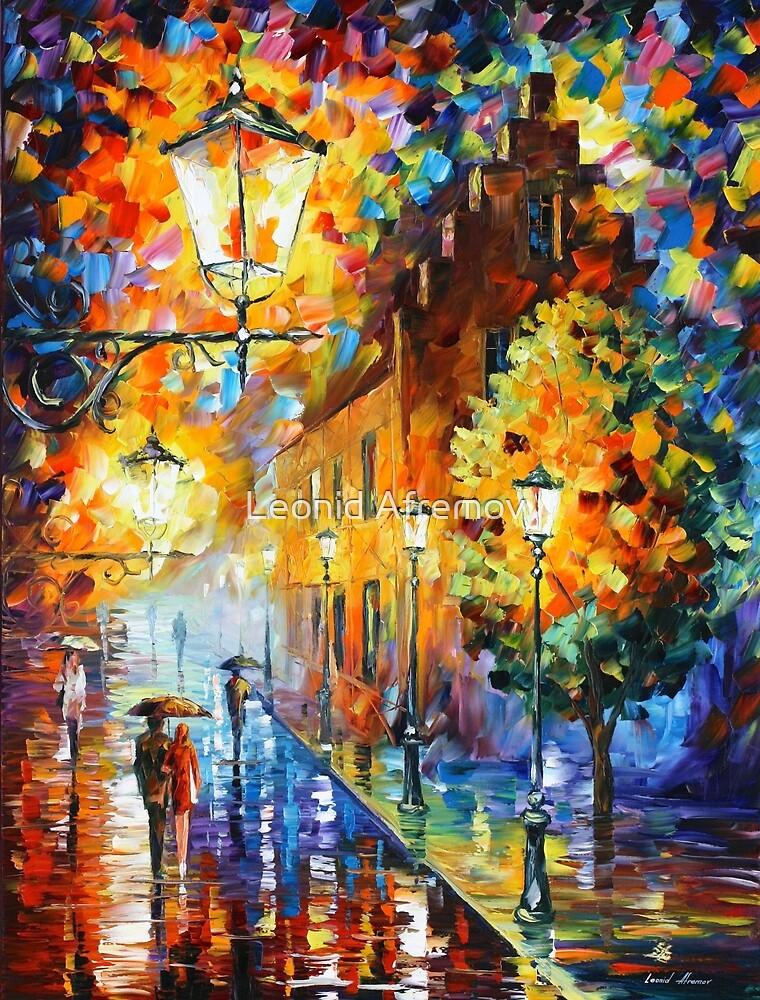 «Luces en la noche - Leonid Afremov» de Leonid Afremov