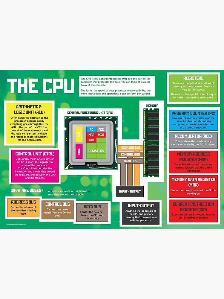 Parts of a CPU for GCSE and A Level Computer Science by lessonhacker