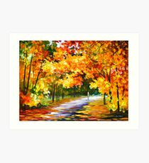 THE PATH OF SUN BEAMS - Leonid Afremov Landscape Art Print