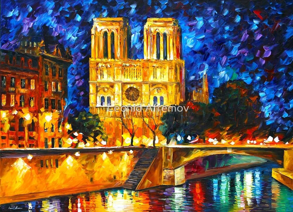 «NOTRE DAME DE PARIS - Leonid Afremov CITYSCAPE» de Leonid Afremov