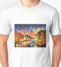 VENICE - GRAND CANAL - Leonid Afremov CITYSCAPE Unisex T-Shirt