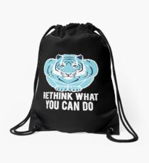 Blue/Black Tiger - Rethink what you can do. Drawstring Bag