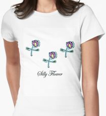 Silly Flower Women's Fitted T-Shirt