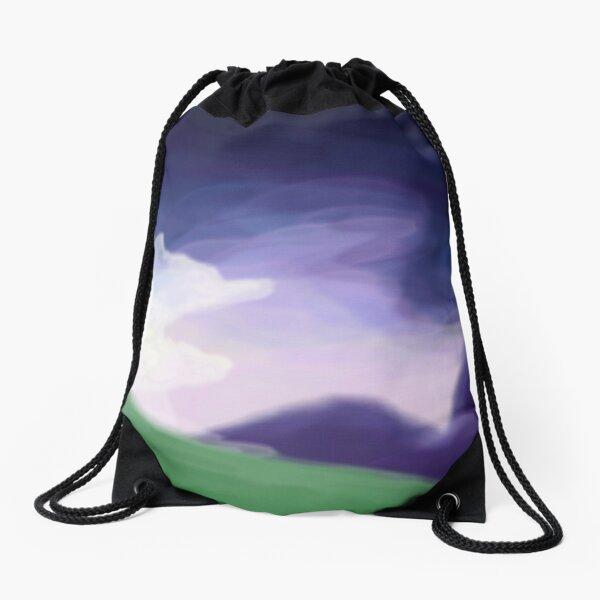 Hazy morning Drawstring Bag