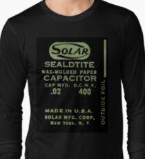 Solar Capacitor - Black Long Sleeve T-Shirt