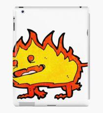 spooky flame monster cartoon iPad Case/Skin