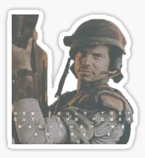 Bill Paxton - Hudson - Aliens Sticker
